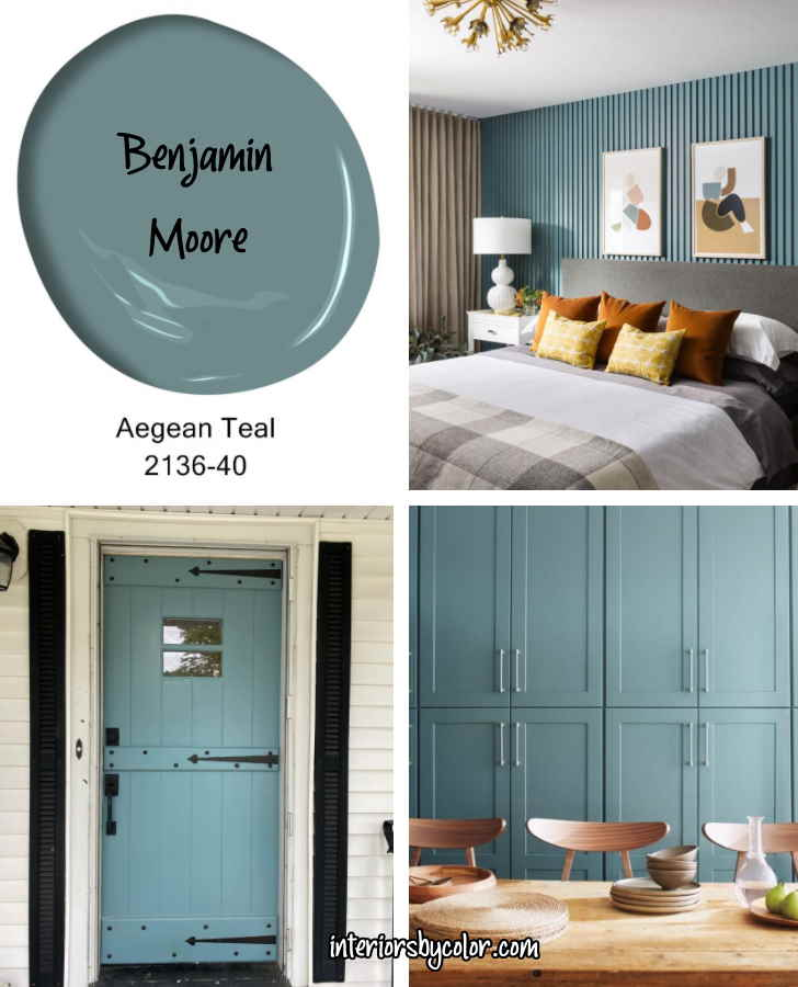 Benjamin Moore Aegean Teal 2021 Colour of the Year