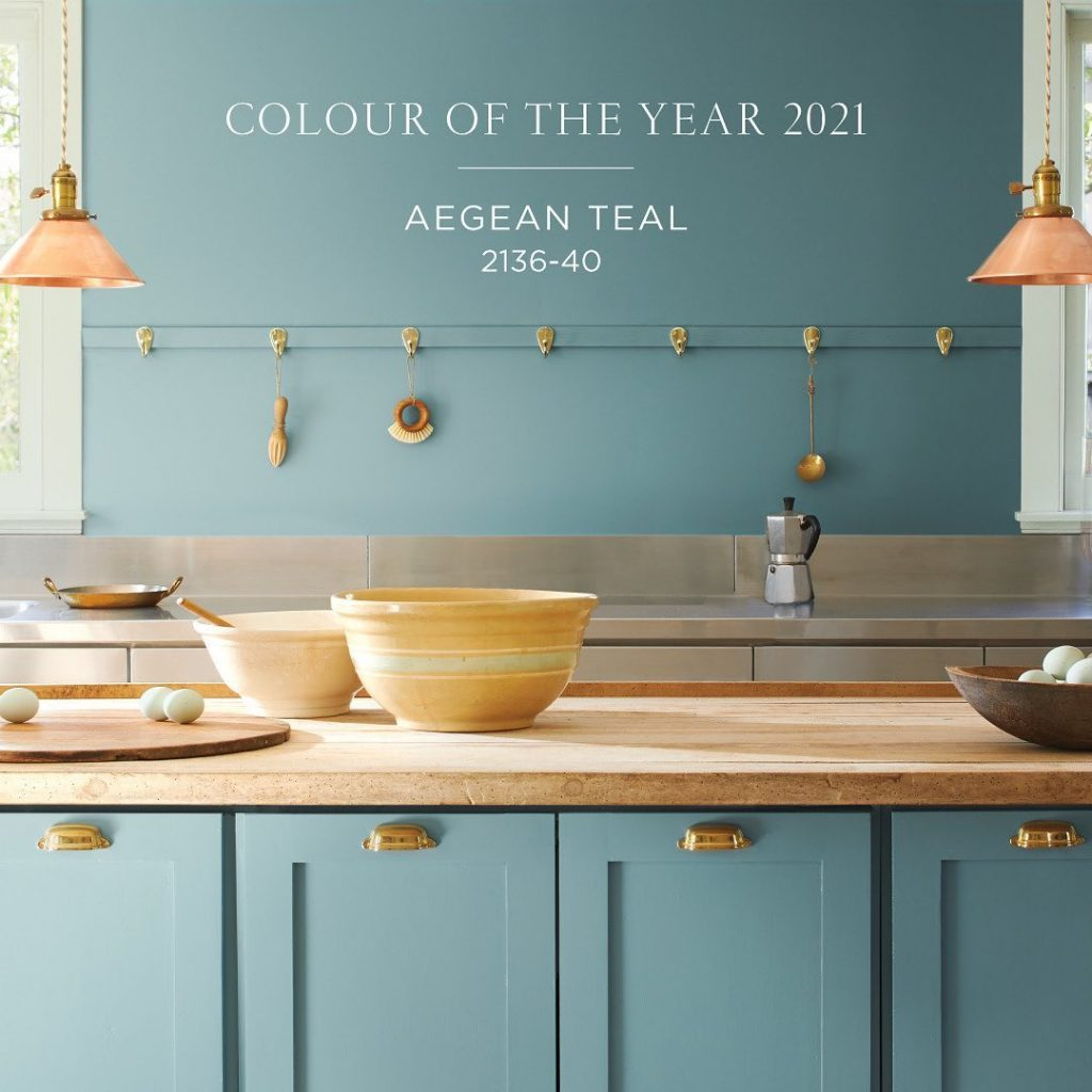 Benjamin Moore Aegean Teal 2021 Color of the Year