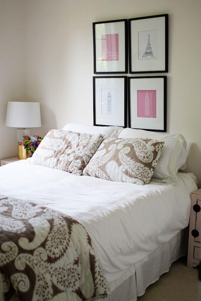 Benjamin Moore Pink Damask walls bedroom