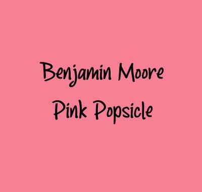 Benjamin Moore Pink Popsicle