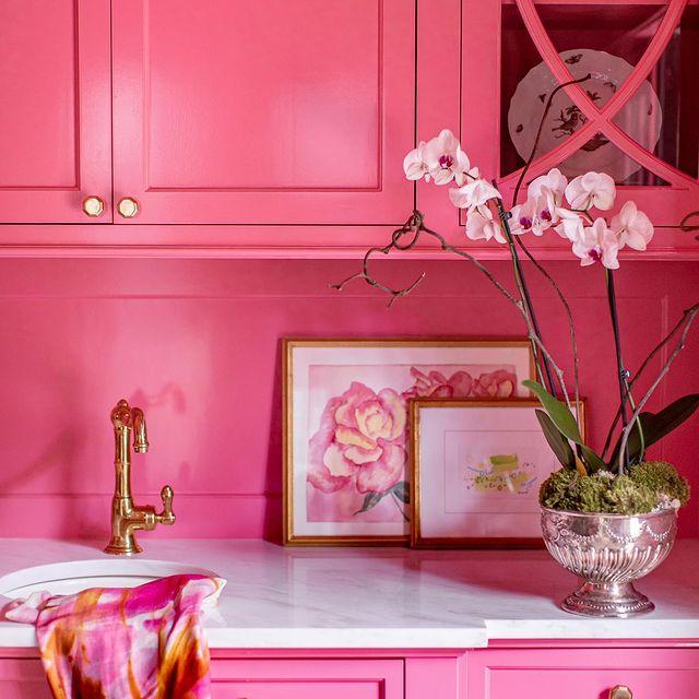 Benjamin Moore Pink Starburst kitchen paint color