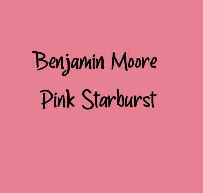 Benjamin Moore Pink Starburst