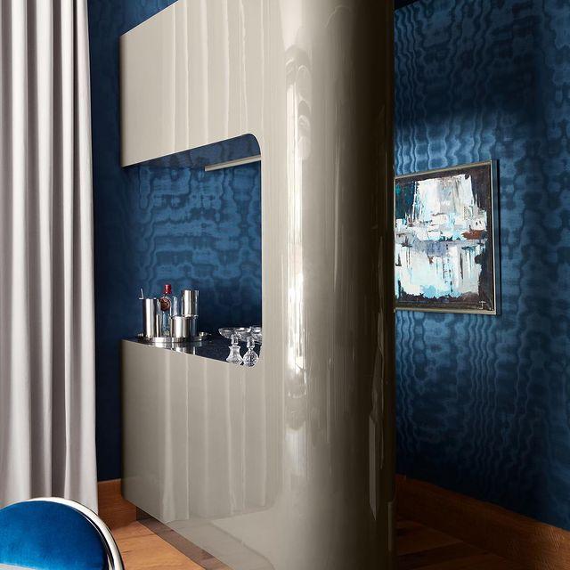 Dark Teal Blue Penthouse