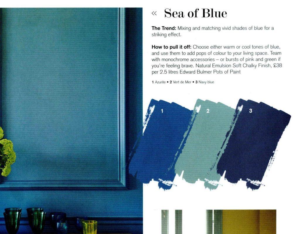 Edward Bulmer Paint Azurite blue colour scheme