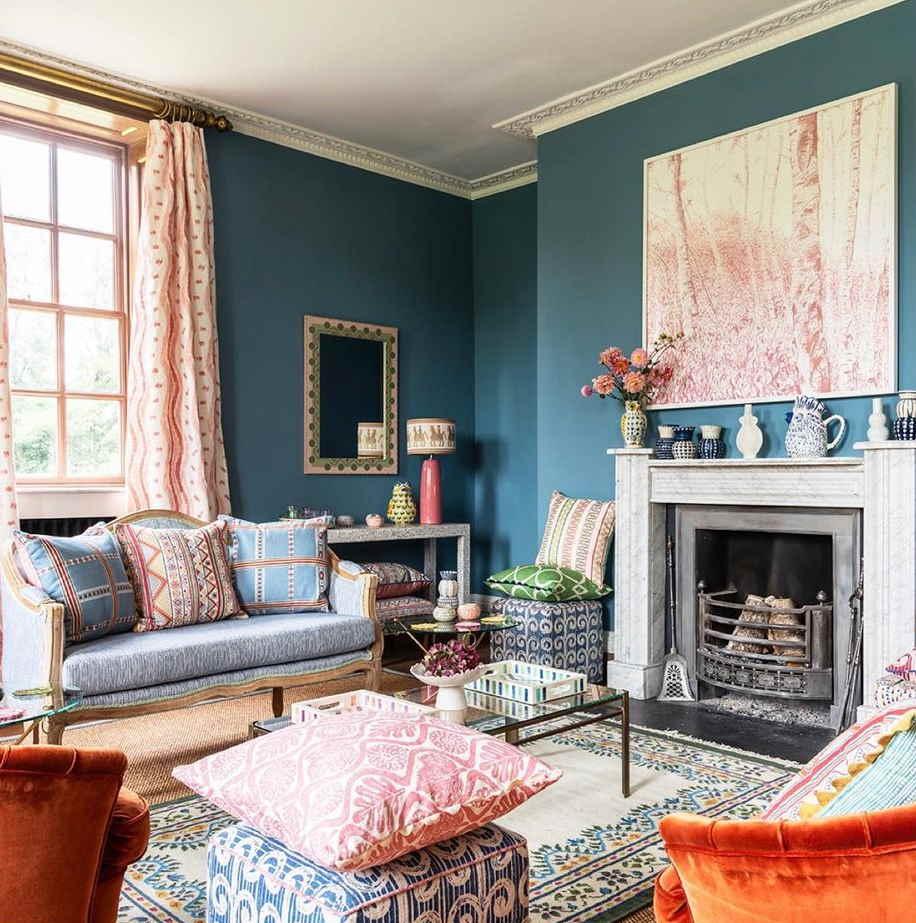 Edward Bulmer Paint Azurite living room