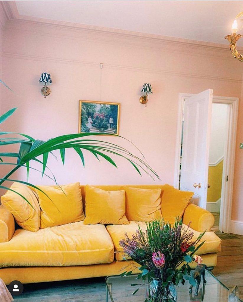 Edward Bulmer Paint Jonquil living room