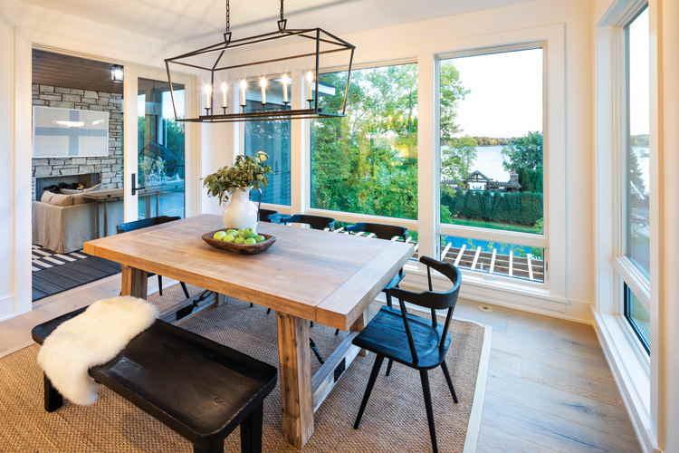 Farmhouse dining room modern