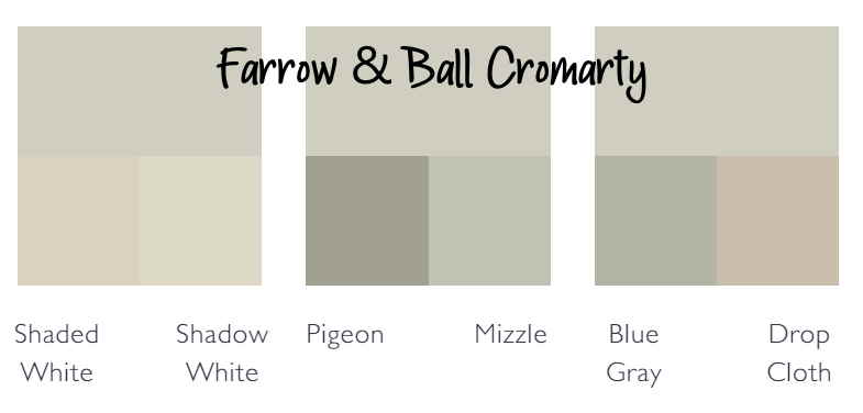 Farrow & Ball Cromarty color palette