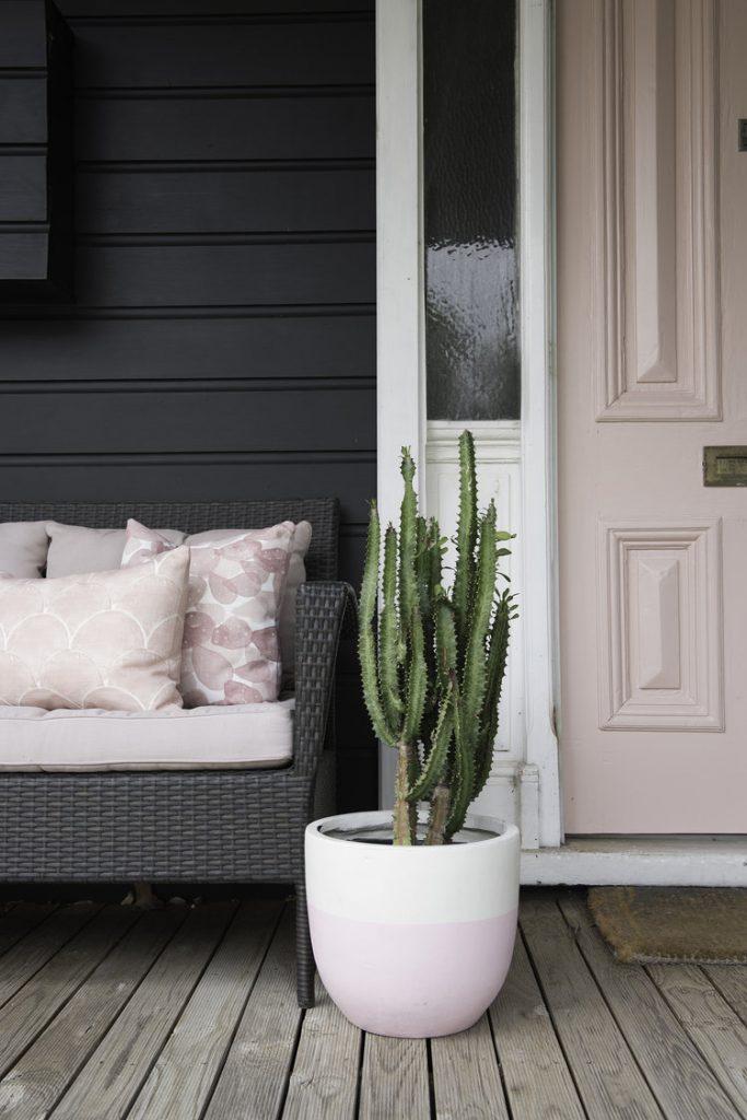 Front door painted in Taubmans Beige Pink