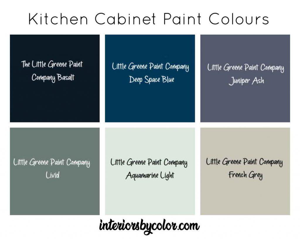 Little Greene Paint Company Kitchen cabinet colours