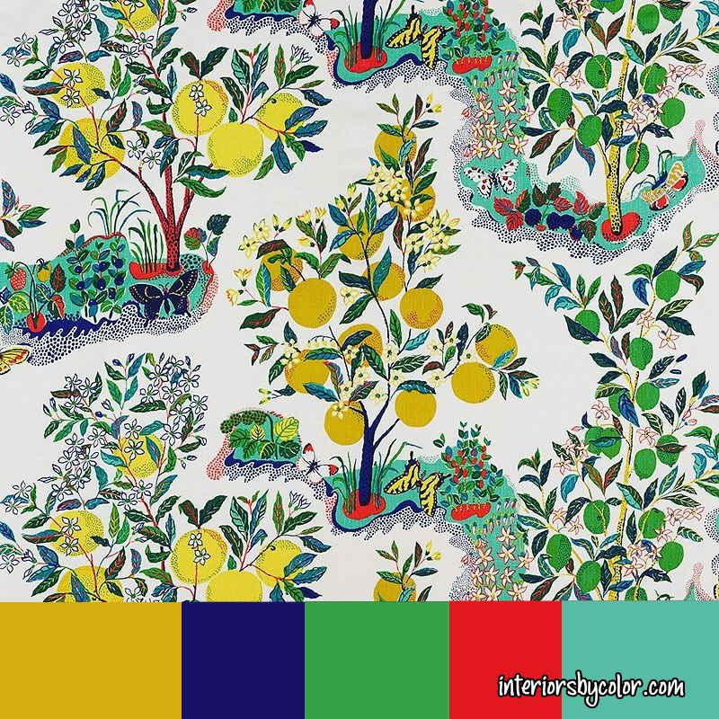 Mediterranean Summer Paint Color Scheme