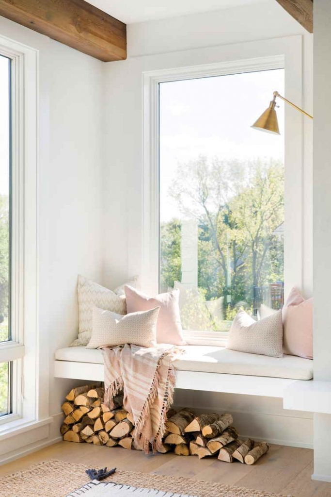 Modern farmhouse style window nook