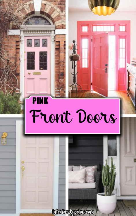 Pink Paint Colors for Front Door
