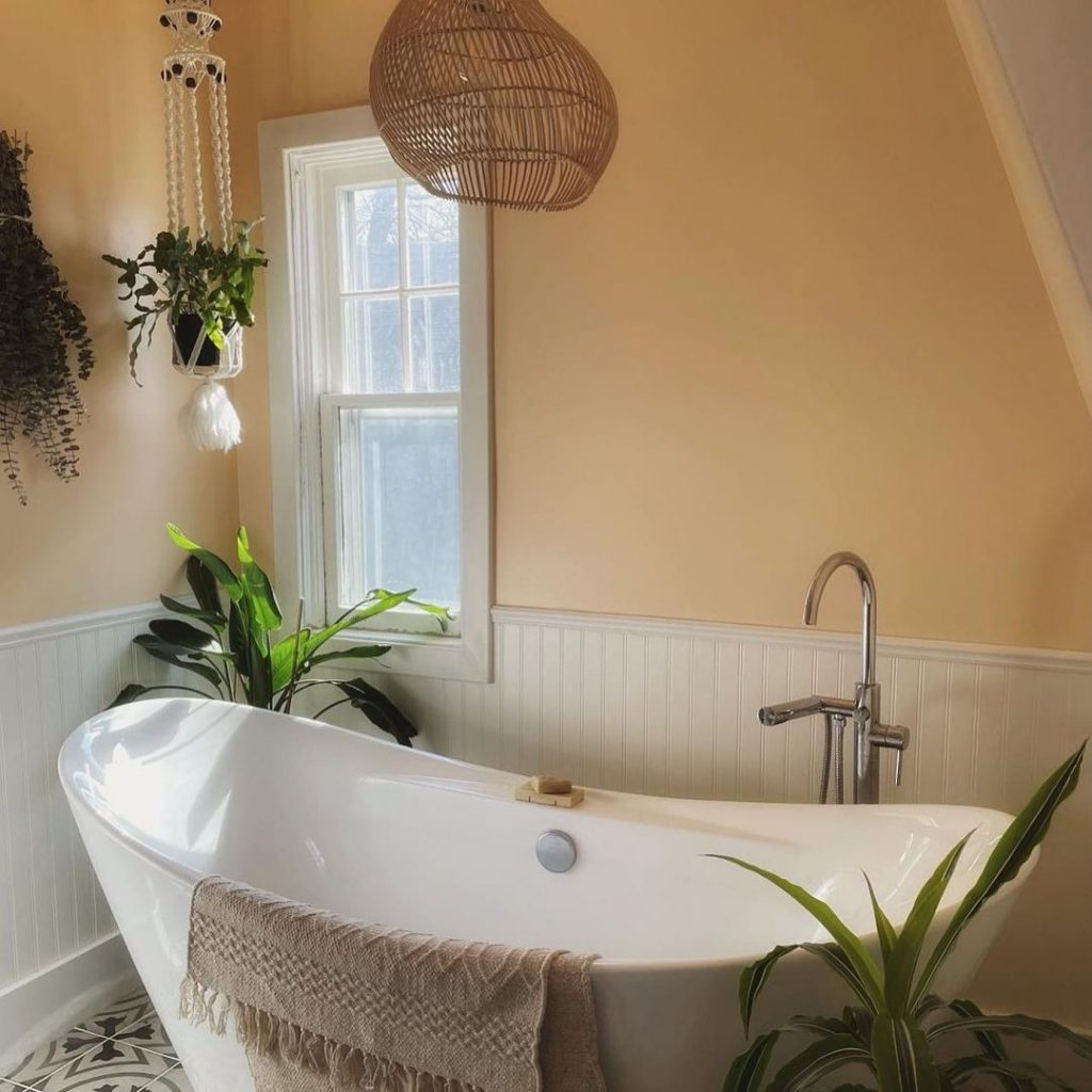 Sherwin Williams Flattering Peach SW 6638 Paint Color