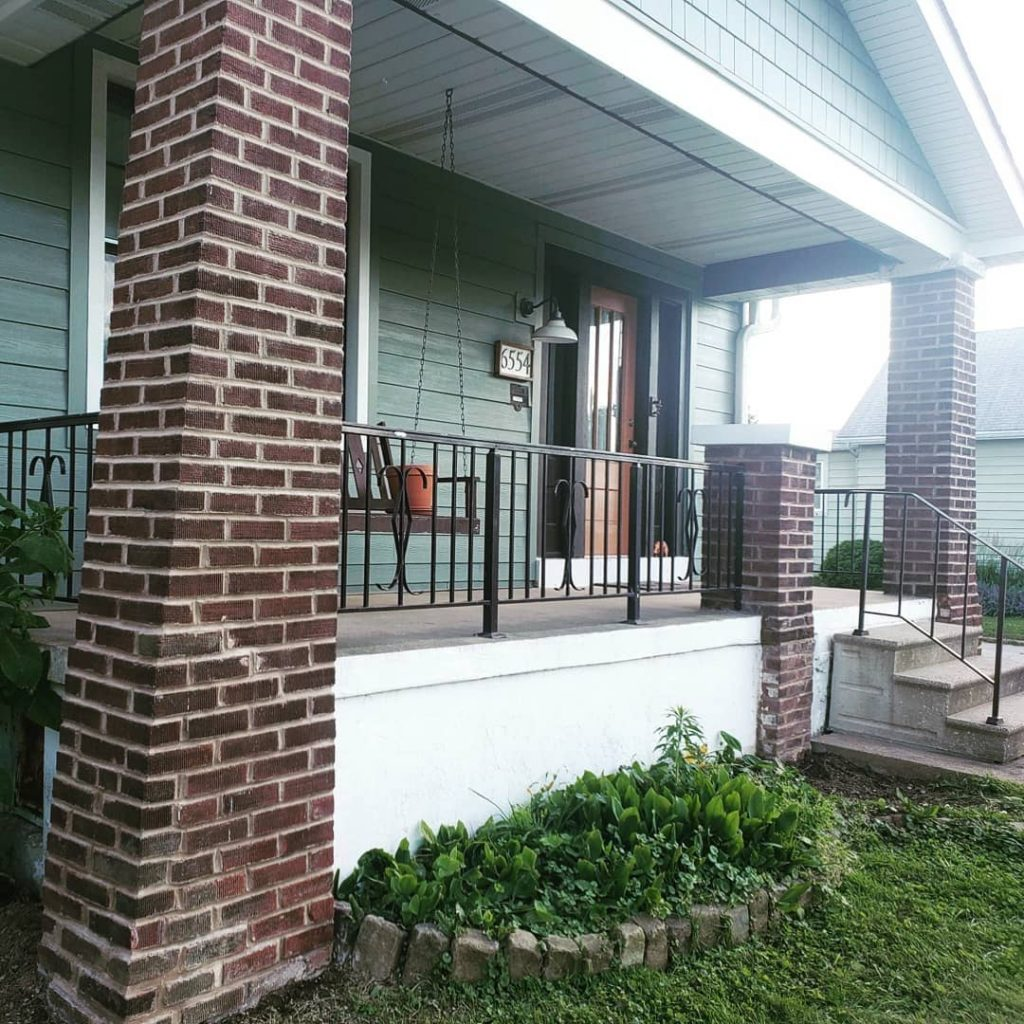 Sherwin Williams Retreat Exterior Paint front porch