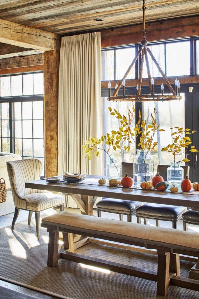 cabin dining room interior design