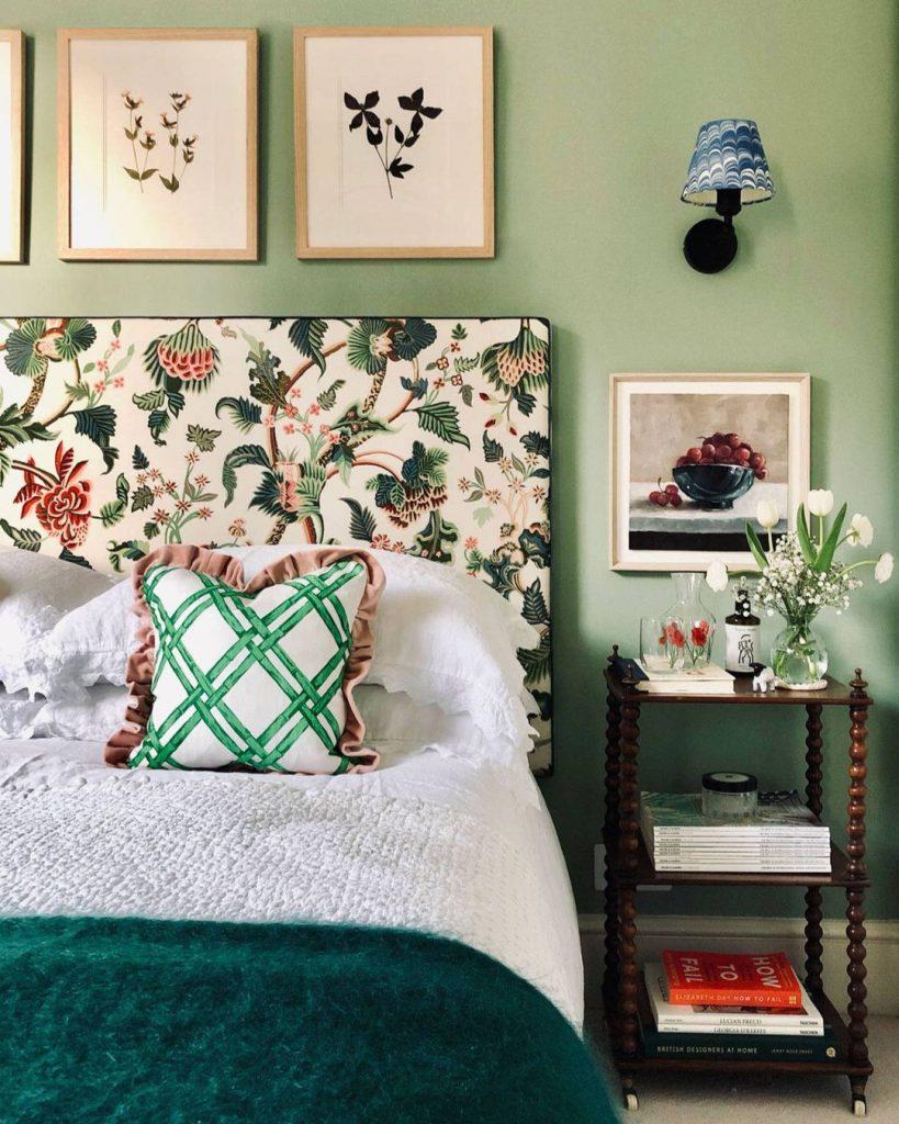 eicó Paints UK Wedgewood Green Bedroom