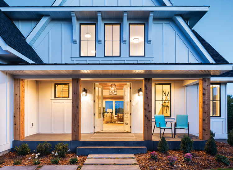 modern farmhouse front porch