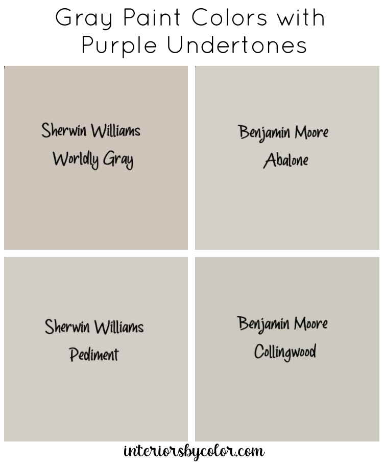 Gray Paint Colors with Purple Undertones