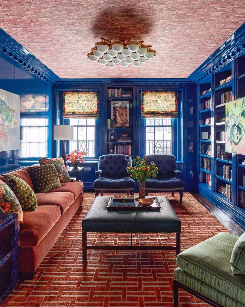 blue and orange bold design