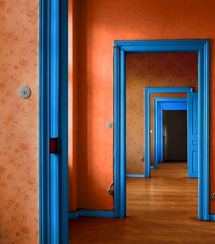 orange and blue interior