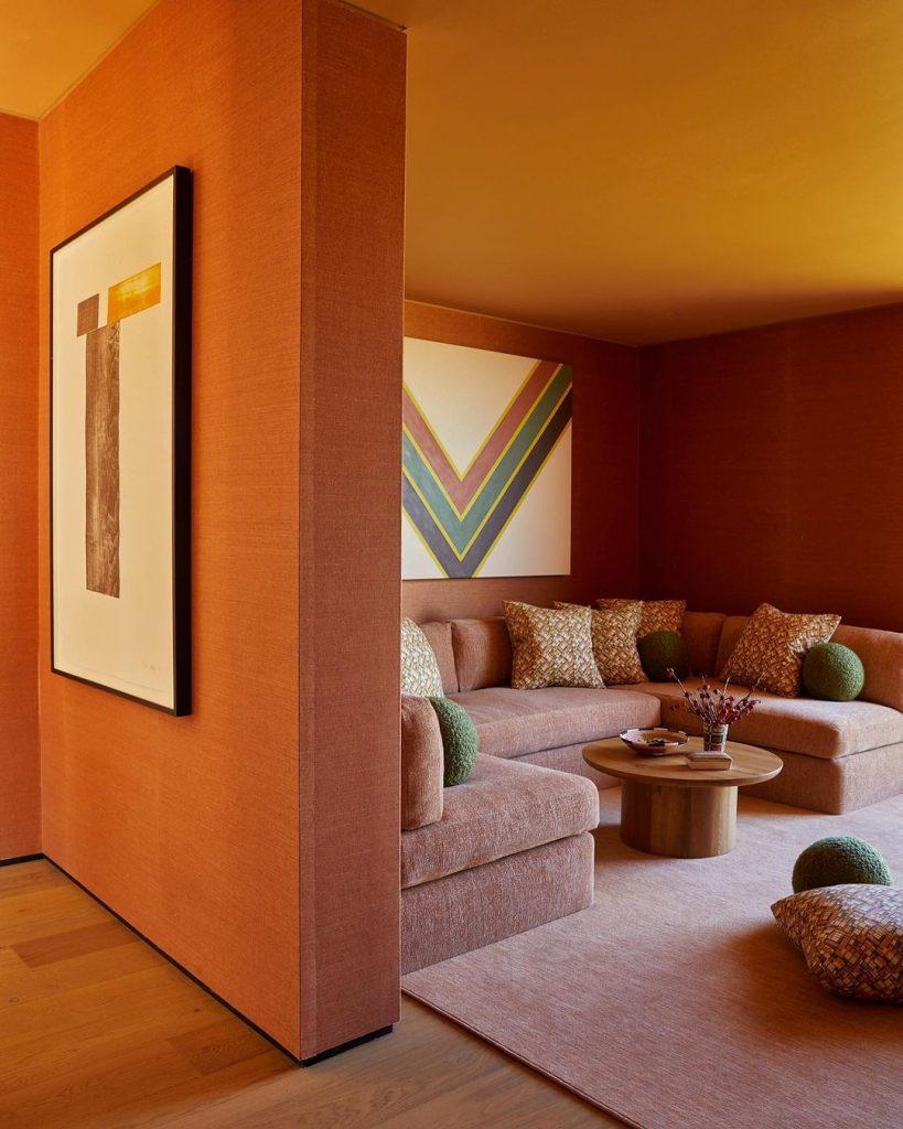 orange interior design tasteful