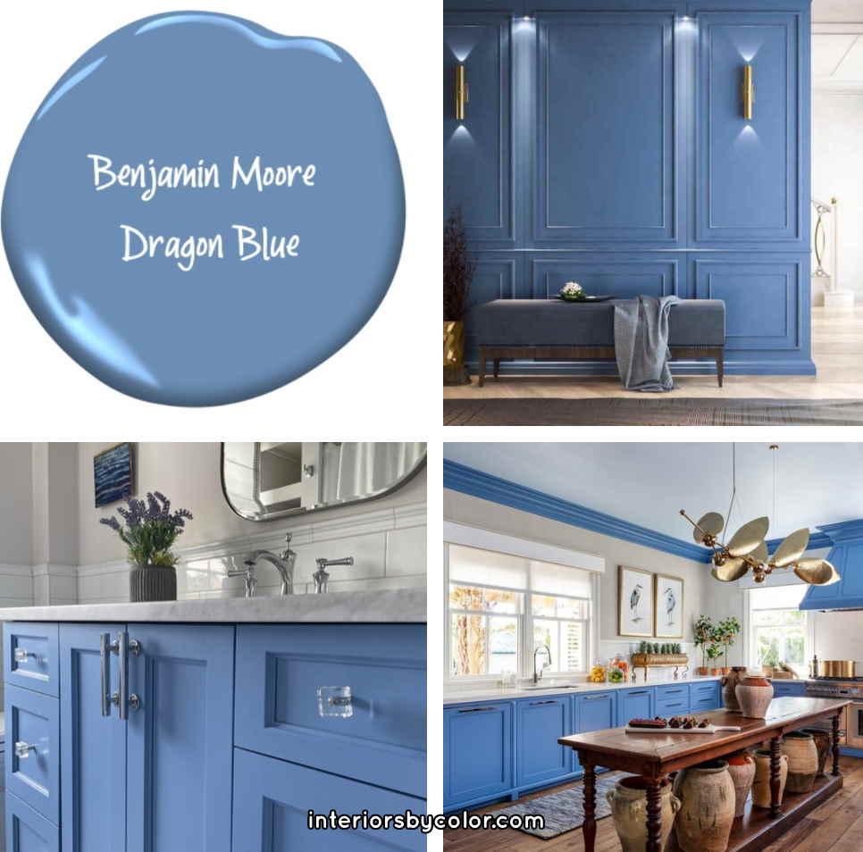 Benjamin Moore Blue Dragon paint color