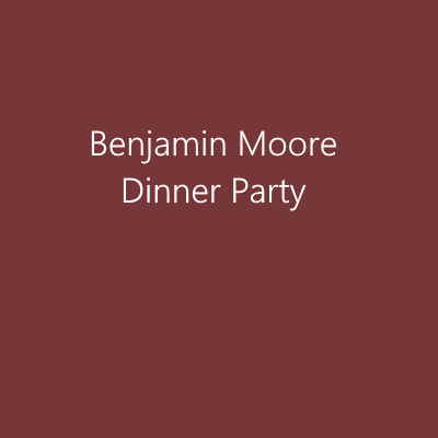 Benjamin Moore Dinner Party paint red