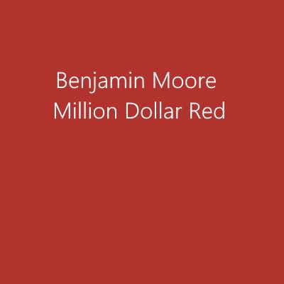 Benjamin Moore Million Dollar Red