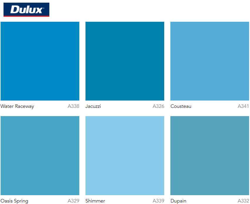 dulux popular blue paint colors