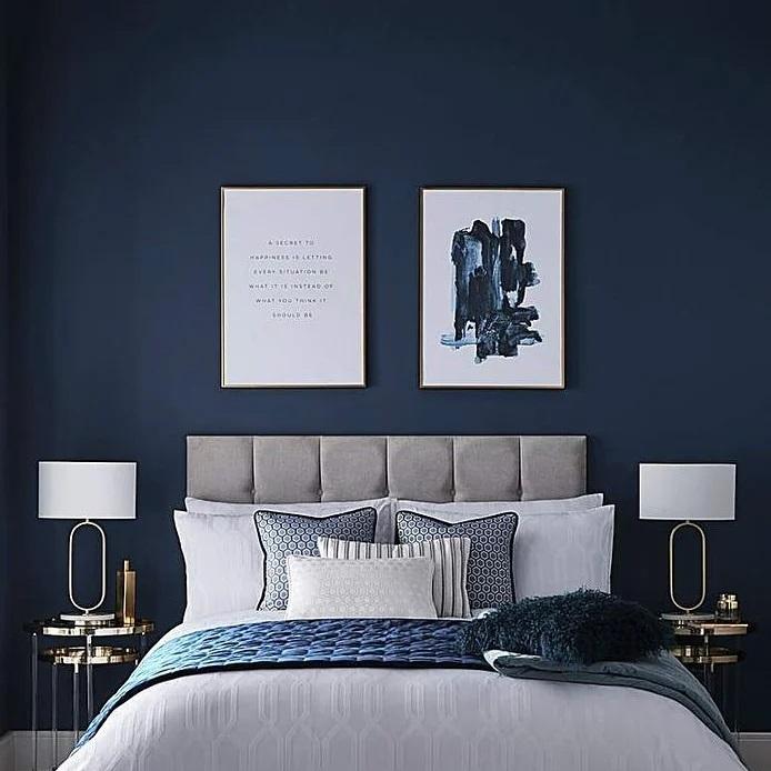 Dulux Ahoy Navy blue paint bedroom