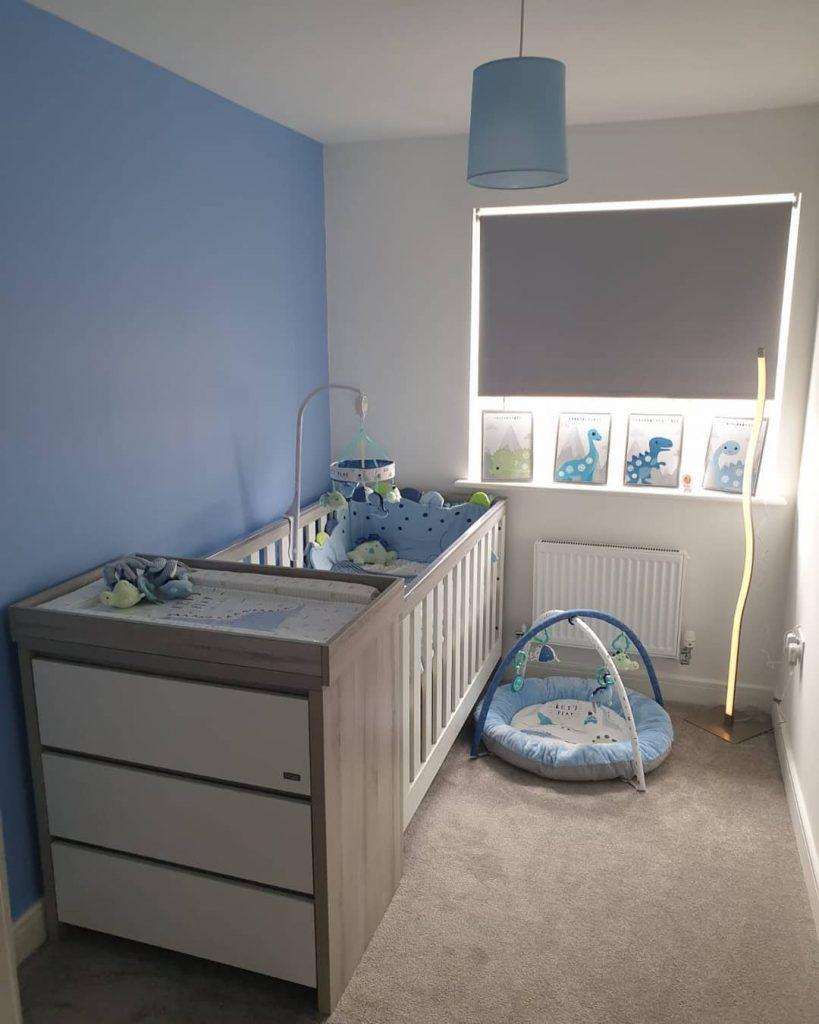 Dulux Blue Babe nursery paint color