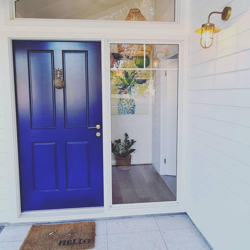 Dulux Blue Lobelia paint color front door