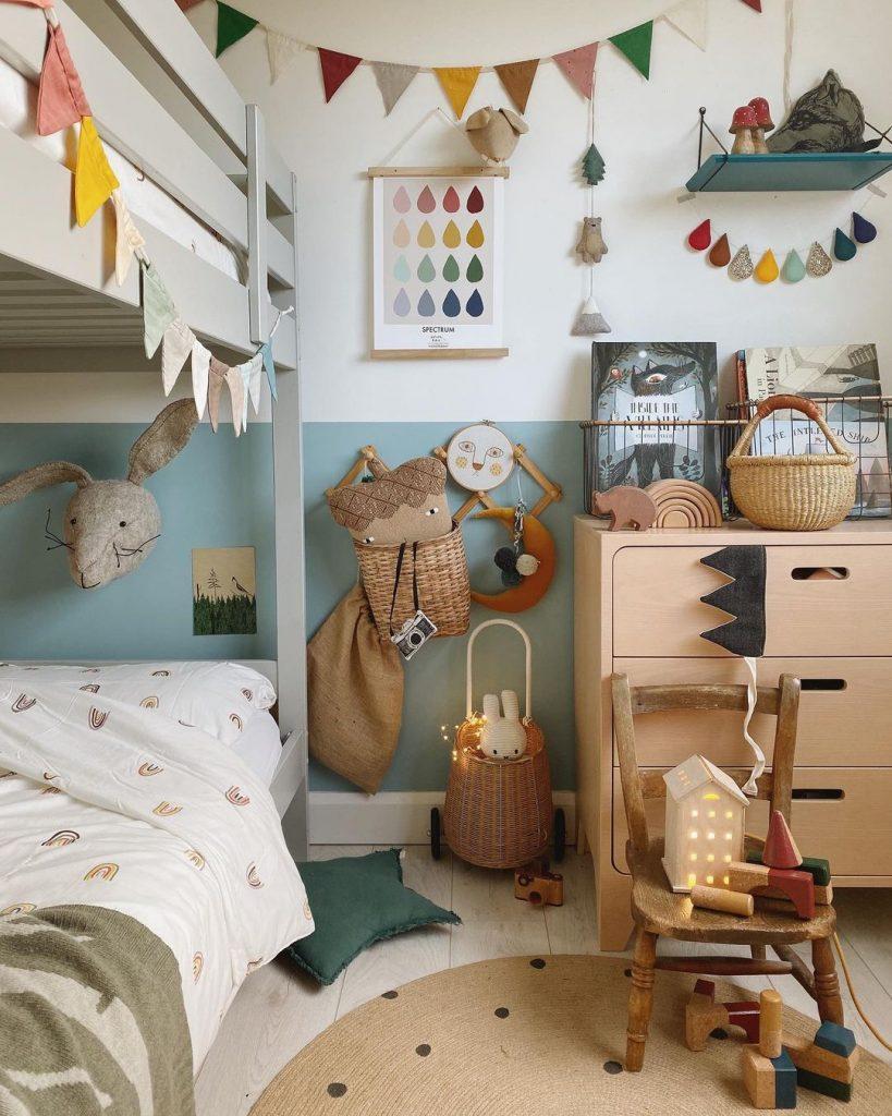 Dulux Blue Reflection kids bedroom bunk beds