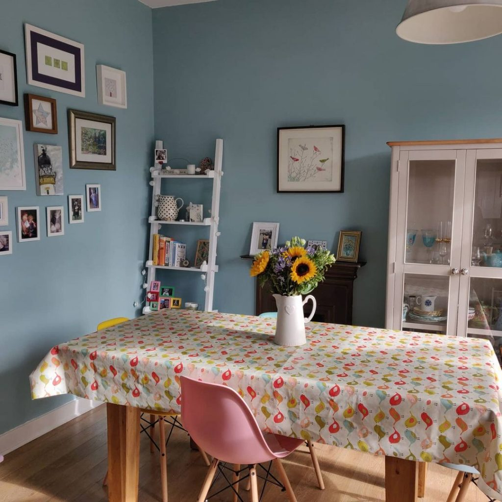 Dulux Blue Reflection wall dining room