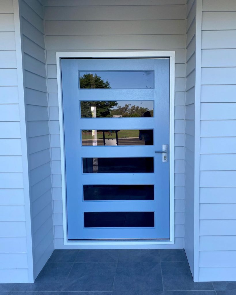 Dulux Sell Out blue front door paint