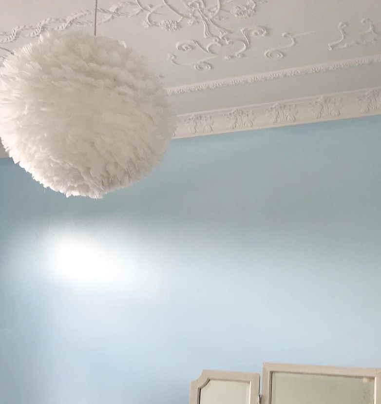 Dulux Shimmer Half blue walls