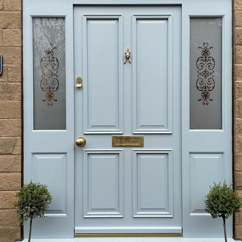 Farrow & Ball Parma Grey painted front door