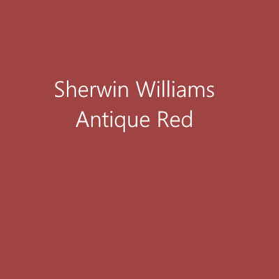 Sherwin Williams Antique Red paint