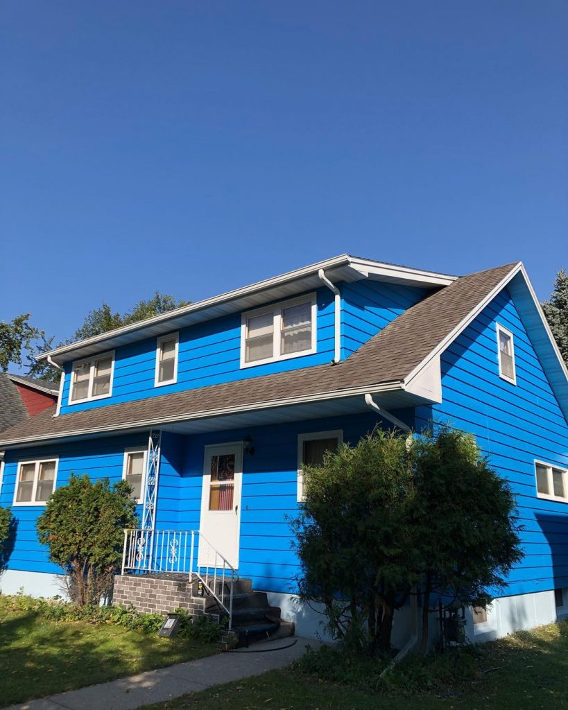 Sherwin Williams Dynamic Blue exterior paint color