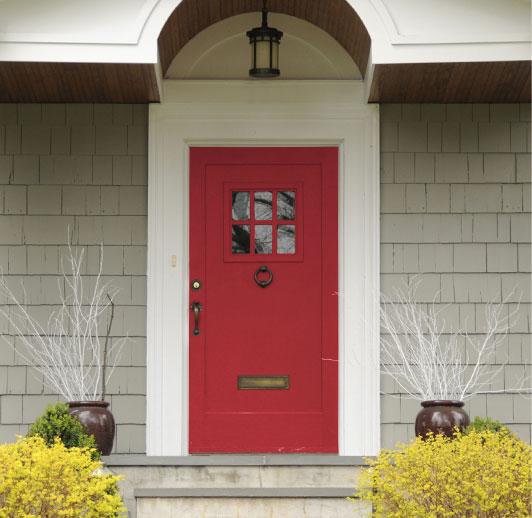 Sherwin Williams Poinsettia red front door
