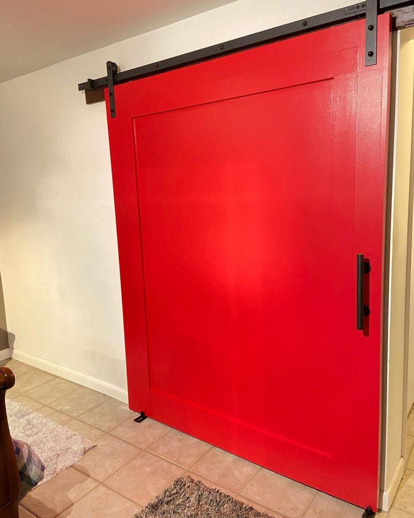 Sherwin Williams Positive Red front door