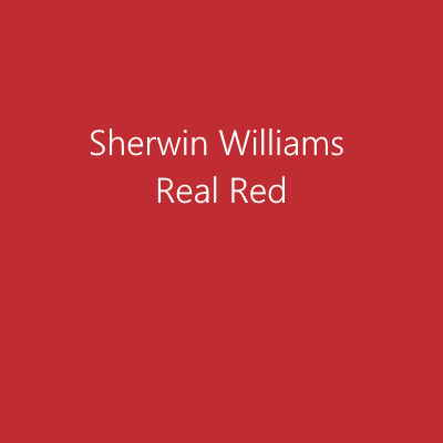 Sherwin Williams Real Red